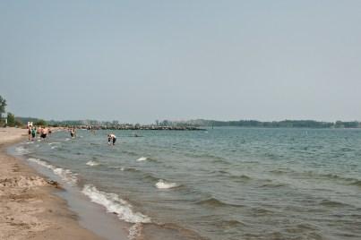 Beach view east at Ward's island.