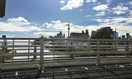 CN tower from Cherry st bridge