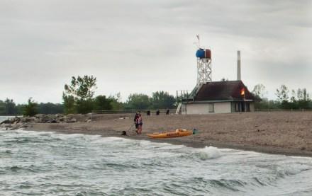 Leuty lifeguard station.