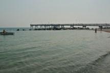 Centre island pier and lifeguard.