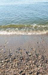 Water's edge at Marie Curtis beach.