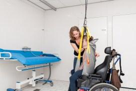 Occupational Therapist providing instruction on assistive technology