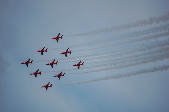 Red Arrows at the Farnborough Airshow