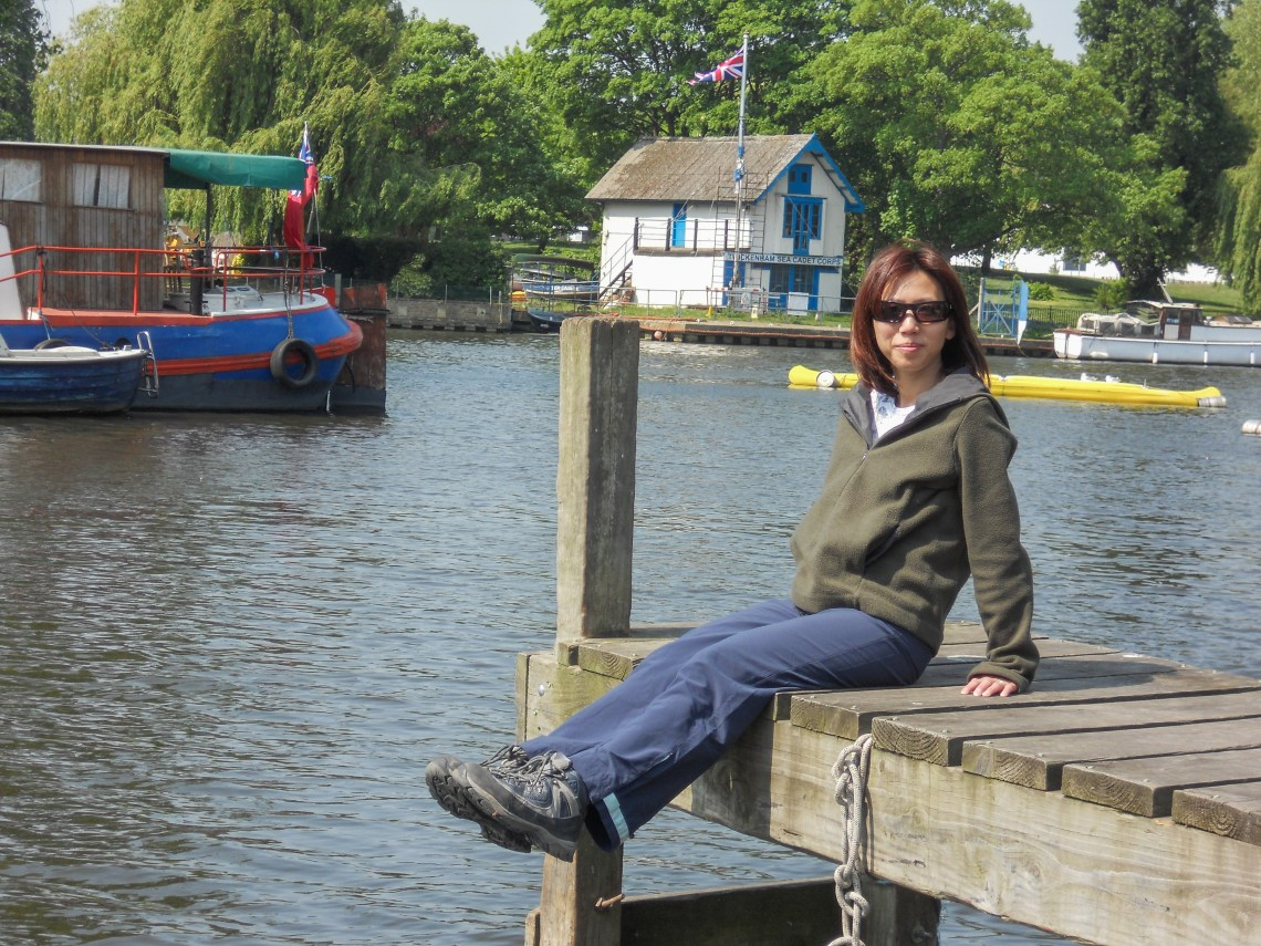 Relaxing by the Thames near Richmond, England