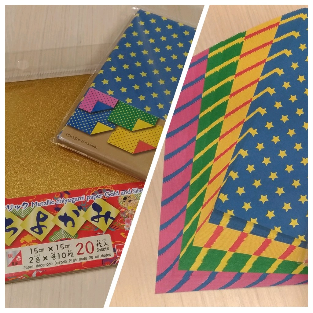 Origami paper from Daisos