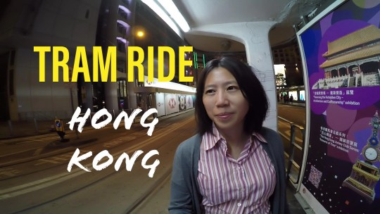 Tram ride in Hong Kong