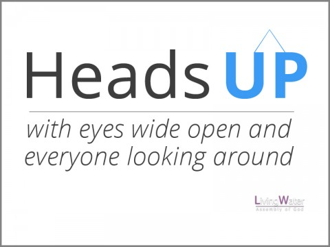Heads Up with eyes wide open and everyone looking around