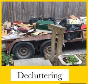Declutterng is hard if you've lived in a house for 50 years.