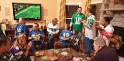 Everyone has a superbowl party, but now everyone likes football