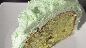 Pistachio Frosting made with whipped topping is easy and delicious