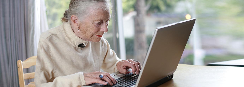 ILady using the laptop