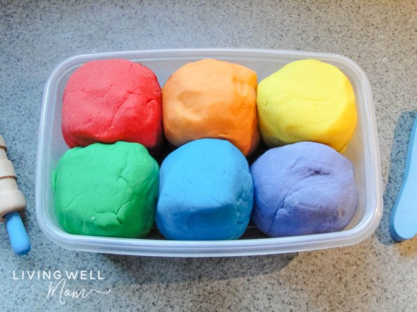 DIY playdough in a container