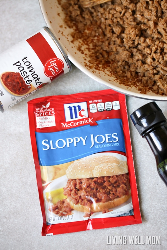 One-Pot Sloppy Joes is a quick-and-easy weeknight meal you can whip up in just 15 minutes. This hearty dinner recipe is deliciously flavorful and kid-approved too!