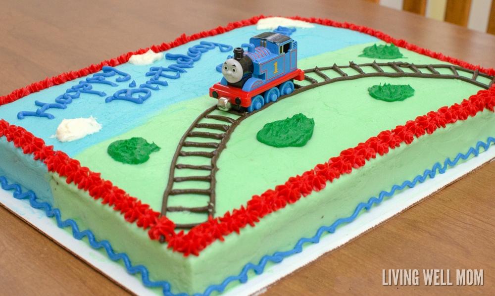 Thomas The Tank Engine Birthday Cake Living Well Mom