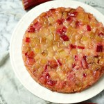 gluten-free rhubarb upside down cake recipe