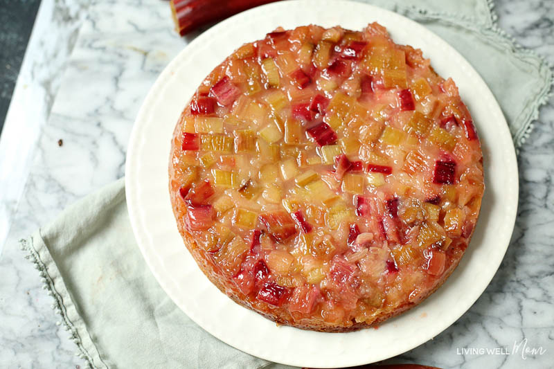 gluten-free rhubarb upside down cake recipe
