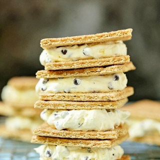 delicious graham cracker ice cream sandwiches stacked together