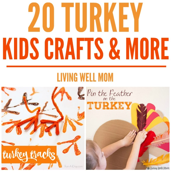 """20+ Turkey Crafts + More for Kids - from a """"pin-the-tail"""" on the turkey game to magnets and book crafts, here's a wonderful selection of turkey crafts and activities kids of all ages will enjoy"""