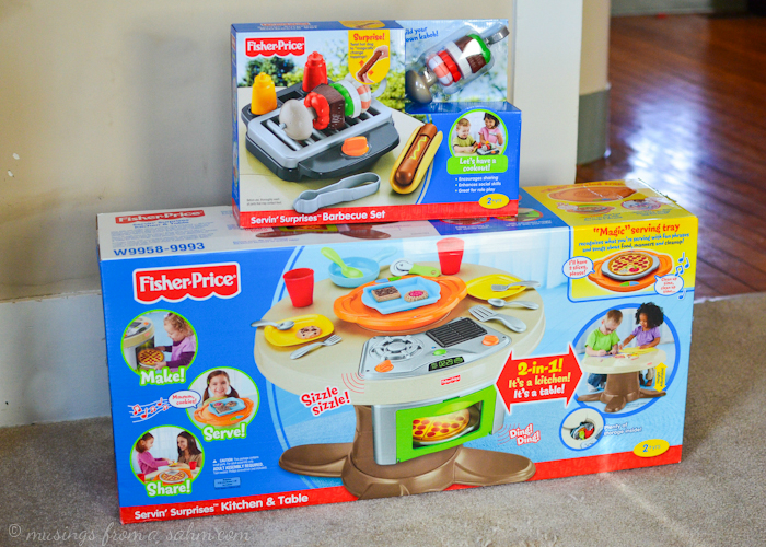 Fisher Price Servin Surprises Kitchen Table Living Well Mom