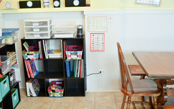 Organize Homeschool Area
