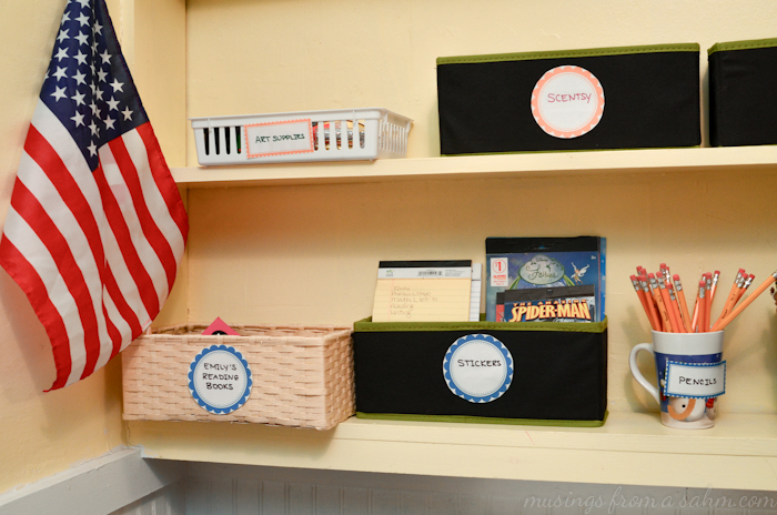 Organize Homeschool Shelves 2