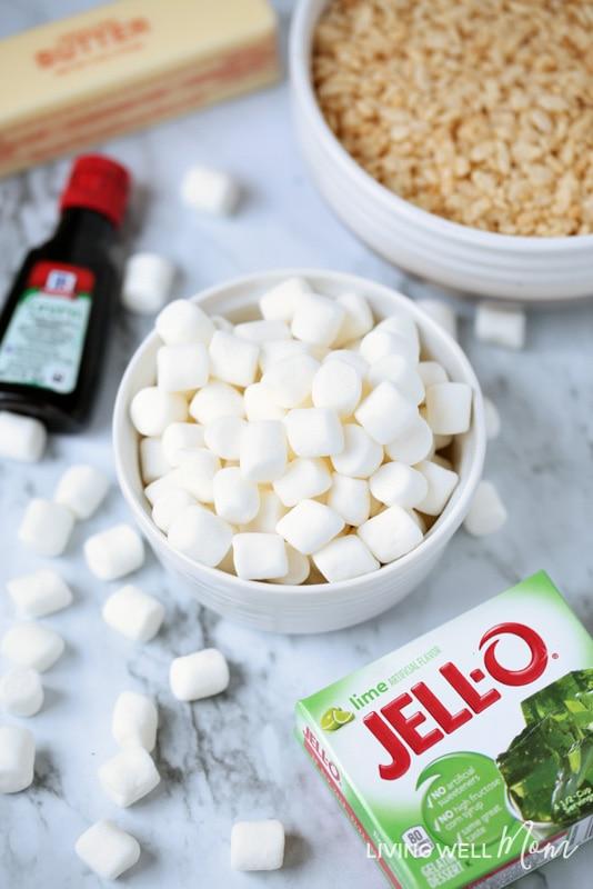 lime jello rice krispie treats ingredients
