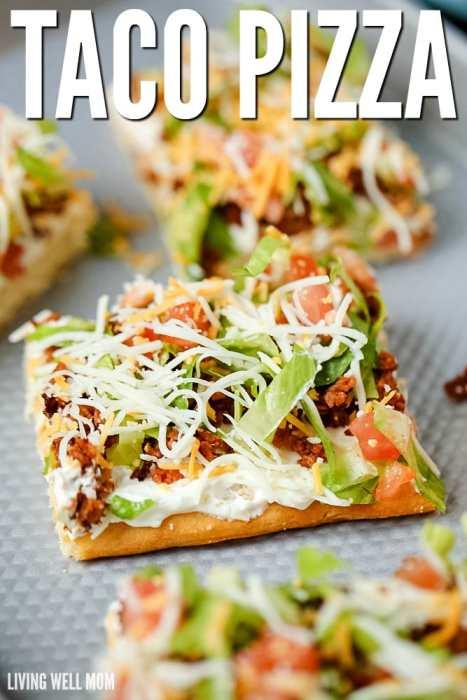 delicious taco pizza