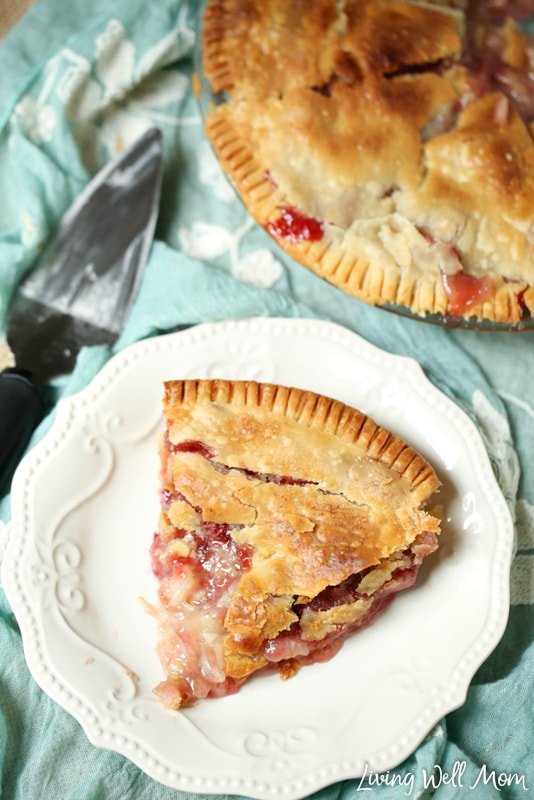 Bursting with strawberry flavor and a tangy touch of rhubarb, this Strawberry Rhubarb Pie is the perfect summer pie recipe. It's easy to make and only takes a few minutes to put together, followed by 45 minutes in the oven before it's ready to serve!