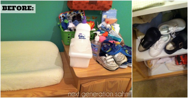 changing table organization before