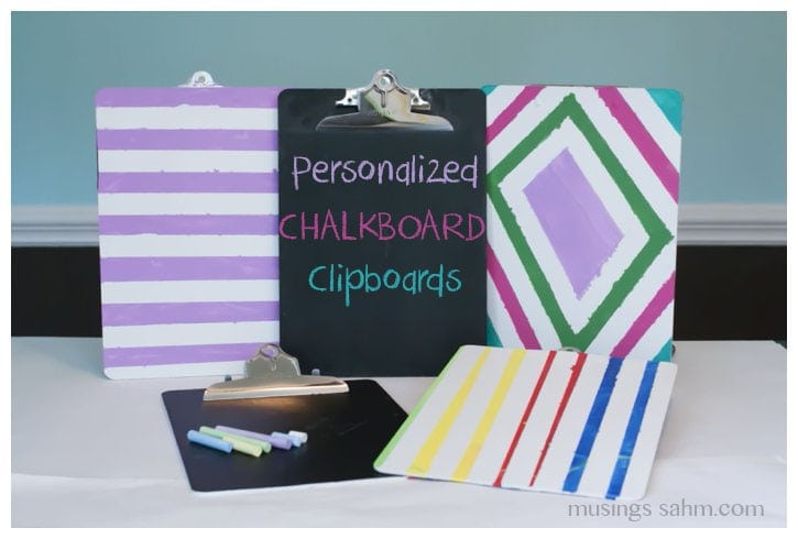 Personalized Chalkboard Clipboards Tutorial