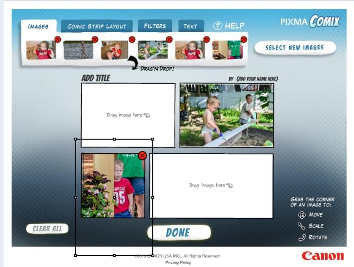 Canon PIXMA comic creations