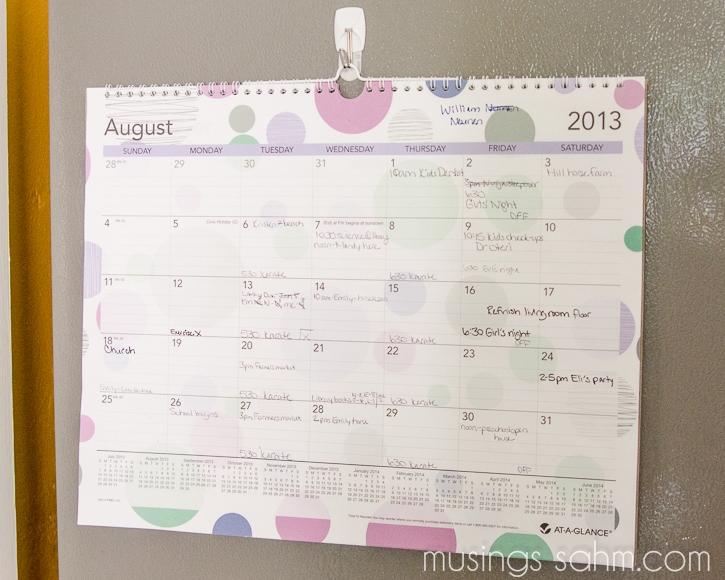 large family calendar