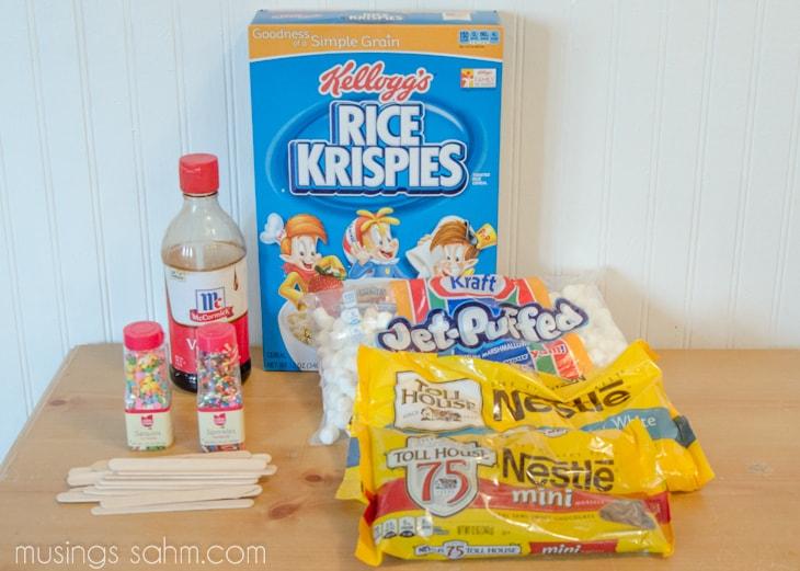 Rice Krispies Popsicle Treats