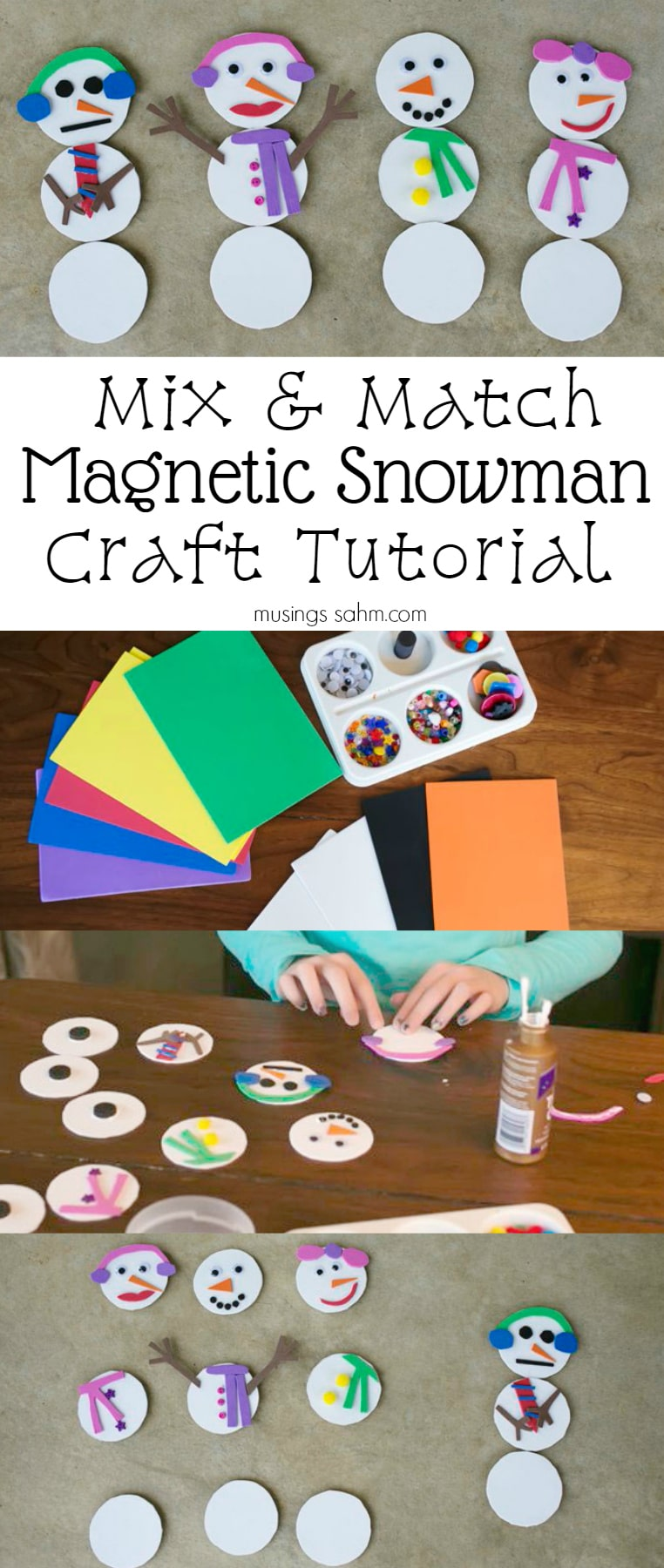 Mix and Match Magnetic Snowman Craft Tutorial