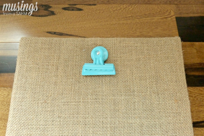 This cute DIY Clip Frame is ideal for easily displaying kids' artwork. And with a rustic burlap background, this version is a perfect way to include your kids' work in your home decor. Tip: Make one for each child!