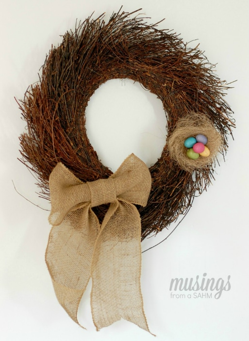 DIY Simple Spring Wreath (make your own wreath) tutorial   spring decor for your front door or any room!