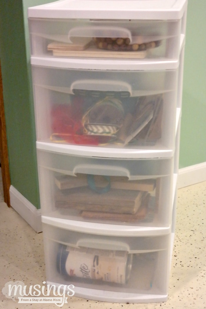 Plastic Drawer Makeover