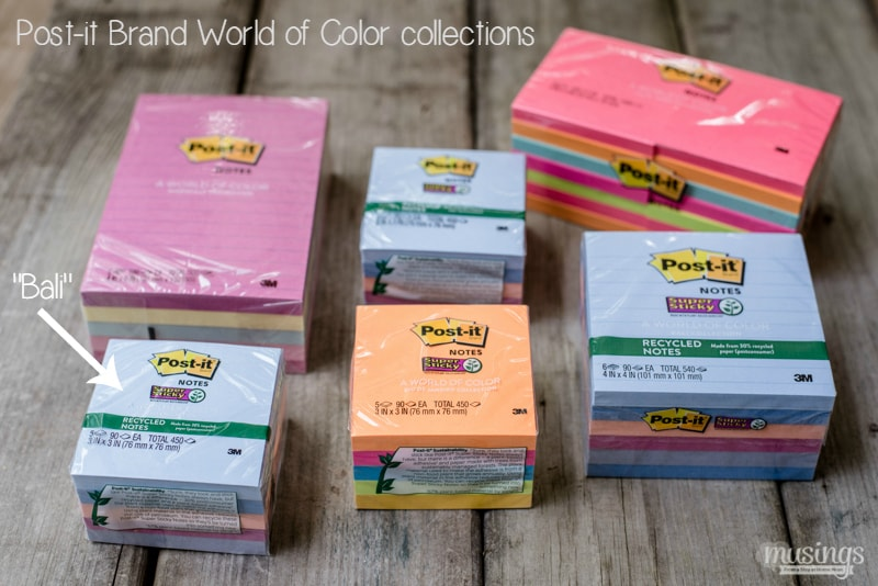 Post-it Notes World of Color Collection - This Magnetic Post-it Notes Holder is a fun, easy-to-make craft that can be personalized with your favorite colors, room decor, style, or occasion. Plus it's a great homemade gift!