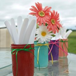 Painted Summer Mason Jars - Musings From a Stay At Home