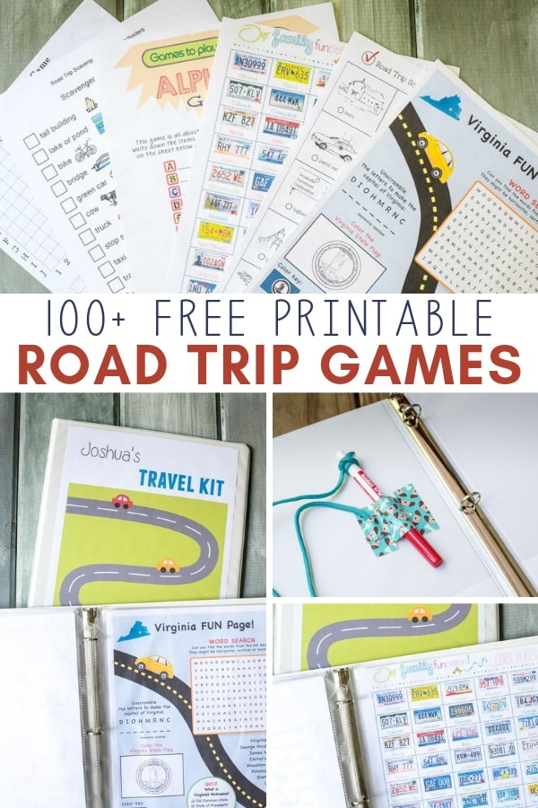 photograph regarding Free Printable Road Trip Games called Do-it-yourself Youngsters Generate Binder + Absolutely free Printable Street Holiday vacation Game titles