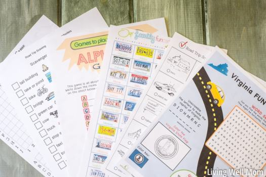 free printable games to play on a road trip