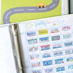 free printable road trip license plate game
