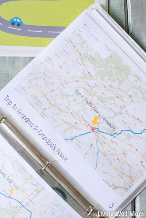 map activity road trip car game