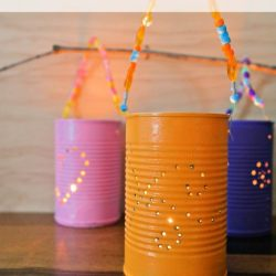 Fun Summer Tin Lanterns