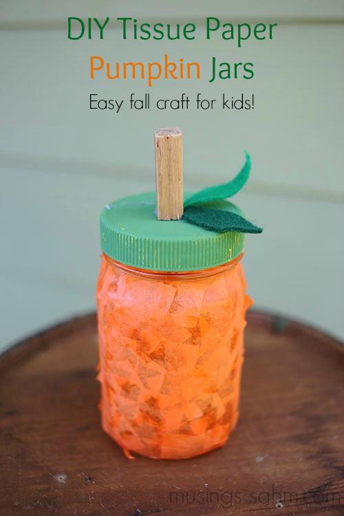 DIY-Tissue-Paper-Pumpkin-Jars