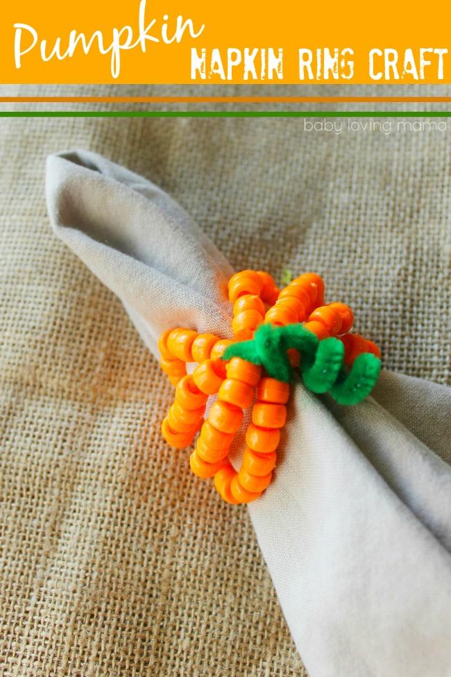 Pumpkin-Napkin-Ring-Craft