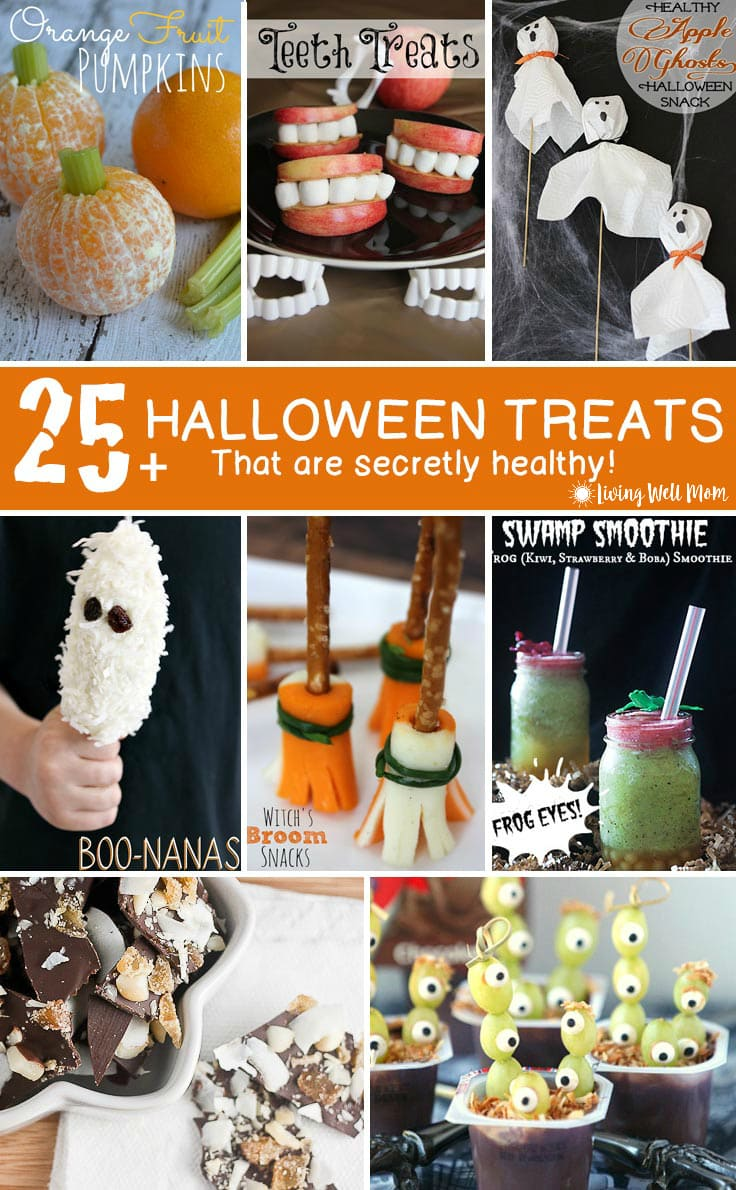 Trade in some of that sugar for a few healthier options this Halloween. Here's a list of 25+ gluten free Healthy Halloween Treats for kids that are both kid and mom-approved.