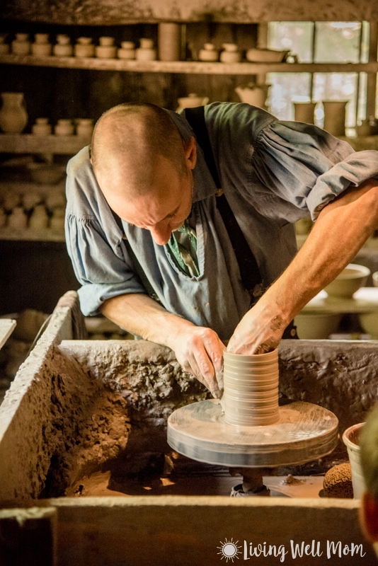 Old Sturbridge Village potter