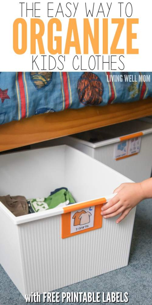 f575cd232bc Even small children can keep their clothes neat with this simple organizing  kids! Plus free