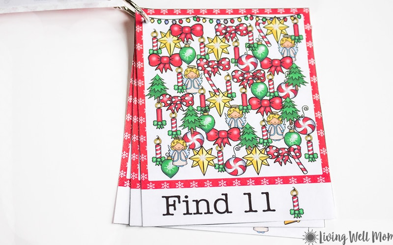 Christmas Free Printable iSpy cards for kids are perfect as stocking stuffers or a no-mess activity on a cold winter day!